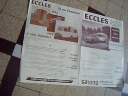 Depliant Publicitaire Caravane Anglaise ECCLES  Annee 1955 - Publicités