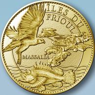 13 MARSEILLE ARCHIPEL DU FRIOUL POISSONS MÉDAILLE TOURISTIQUE ARTHUS BERTRAND 2011 JETON MEDALS TOKENS COINS - Arthus Bertrand