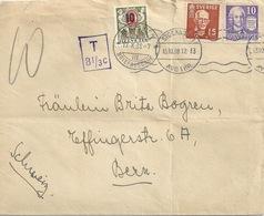 Taxierter Brief  Stockholm - Bern              1938 - Schweiz