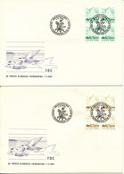 Aland FDC 1-3-1984 The Very First 3 Aland Stamps In Block Of On 3 Covers With Cachet - Aland