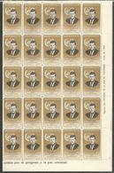50x PARAGUAY - MNH - Famous People - John Kennedy - Full Folded Sheets - Kennedy (John F.)