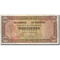 Billet, Espagne, 50 Pesetas, 1938, 1938-05-20, KM:112a, TB+ - [ 3] 1936-1975: Regime Van Franco