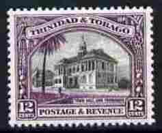 91988 Trinidad + Tobago 1935-37 Town Hall 12c P13x12.5 Unmounted Mint SG 235a (buildings Constitutions) - Trinidad & Tobago (...-1961)