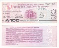 Argentina - Tucuman - 100 Australes 1991 UNC Ukr-OP - Argentina