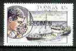 14971 Tonga 1991 Ship Sinking 42s O/p SPECIMEN (Telecommunications Shipwrecks Disasters Rescue Microphone) U/m - Tonga (1970-...)