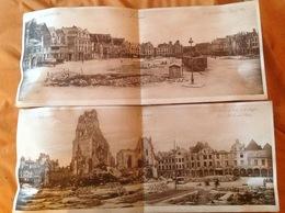 2 Photographie Ruines D'Arras 59,3 X 24,5 - Historical Documents