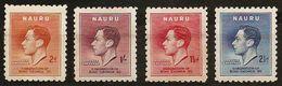 NAURU 1937 - CORONATION King GEORG VI - Compl Mi 33-36 MH * Mint Cv€2,50 V521a - Nauru