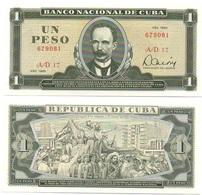 Cuba - 1 Peso 1985 AUNC- Ukr-OP - Kuba
