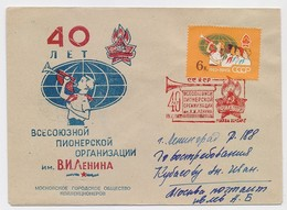 MAIL Post Cover Mail USSR RUSSIA Children Scout Lenin Moscow - Storia Postale