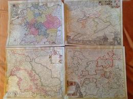 9 Cartes Présentant L'Allemagne Ancienne Et Blasons - Historische Dokumente