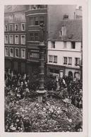 57 - METZ - 1940 INAUGURATION STATUE DE LA VIERGE PLACE ST JACQUES - MANIFESTATION PATRIOTIQUE ANTI ALLEMANDE - Metz