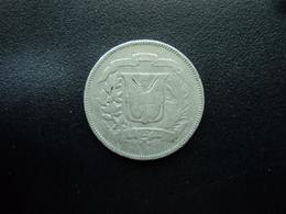 RÉPUBLIQUE DOMINICAINE : 25 CENTAVOS   1967   KM 20a.1     TB+ - Dominicana