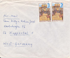 Mauritius Cover Sent To Germany (one Of The Stamps Bended) - Mauritius (1968-...)