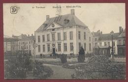 "Turnhout  Stadhuis - Hôtel De Ville Guerre 1914-18 - Cachet Allemand Feldpost Turnhout  "" Landsturm Btl L'Hafen "" - Turnhout"