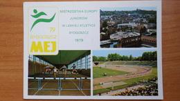 POLAND. Bydgoszcz . STADE  STADIUM  - Aerial View1979  - Rare! - Stadien