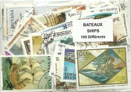 """Lot 100 Timbres Thematique """" Bateaux """" - Bateaux"""