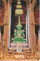 Thailand Postcard The Image Of The Emerald Buddha Temple Under The Summer Season Sent To Denmark - Thailand