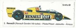 Sticker - Renault Gordini V6 Turbo - Piloot:Jabouille Arnoux - Michelin Facom Champion Smiths - Autocollants