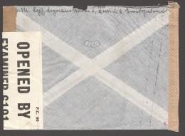 1943  Lettre Avion  Zürich Pour USA  Zum 248  Double Censure Allemande Et Américaine - Schweiz