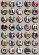 SHEILA Music Fan ART BADGE BUTTON PIN SET 1 (1inch/25mm Diameter) 35 DIFF - Music