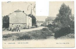 CPA ANIMEE CHATILLON, VUE DU VILLAGE, ANIMATION, PROVINCE DE LUXEMBOURG, BELGIQUE - Saint-Léger