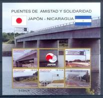 H129- Nicaragua 2001. Bridges Of Friendship Japan Nicaragua. - Joint Issues