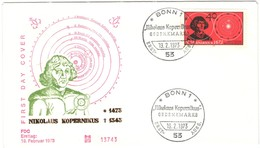 GERMANIA - GERMANY - Deutschland - ALLEMAGNE - 1973 - Nikolaus Kopernikus - FDC - Bonn - FDC: Buste