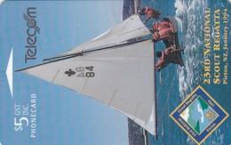 New Zealand, NZ-E-008, 23rd National Scout Regatta, Boat, 2 Scans. - New Zealand