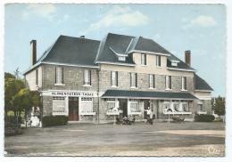 CPSM COLORISEE EYREIN - GARE, LE NOUVEL HOTEL, ALIMENTATION TABAC, CORREZE 19 - France