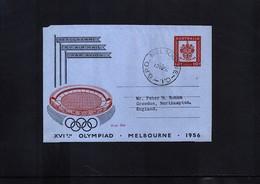 Australia 1956 Olympic Games Melbourne Interesting Aerogramme FDC - Sommer 1956: Melbourne
