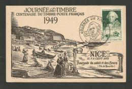 """NICE - Carte Locale """" Journée Du Timbre 1949 - CHOISEUL """" - Covers & Documents"""