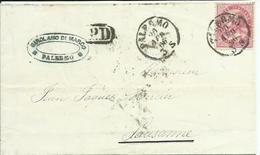 VE2051-Lettera Da Palermo A Losanna Con 40 Cent. Effigie (Londra) 20.4.19866 - P.D. In Cartella - 1861-78 Victor Emmanuel II