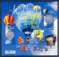 H182- België Belgium Postfris. Luchtballonnen 2015. Balloons. Ballooning. - Unused Stamps