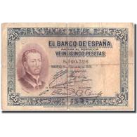 Billet, Espagne, 25 Pesetas, 1926, 1926-10-12, KM:71a, TB - [ 1] …-1931 : Eerste Biljeten (Banco De España)