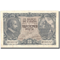 Billet, Espagne, 25 Pesetas, 1940, 1940-01-09, KM:116a, TTB - [ 3] 1936-1975: Franco