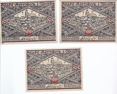 Notgeld - Sternberg - Mecklenburg Schwerin - 3 X Loo Pfennig - Selten 3 Scheine     - NG-165 - Lokale Ausgaben