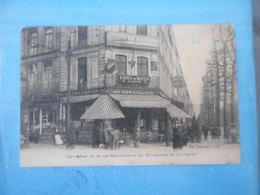CPA LILLE COMMERCE CAFE - CARREFOUR DE LA RUE NATIONALE ET DU BOULEVARD DE LA LIBERTE - Cafés