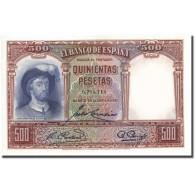 Billet, Espagne, 500 Pesetas, 1931, 1931-04-25, KM:84, SUP - [ 2] 1931-1936 : Republic