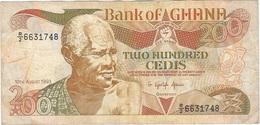 Ghana 200 Cedis 10-8-1993 Pick 27b Ref 1788 - Ghana