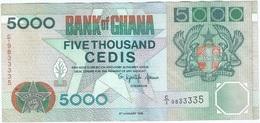 Ghana 5.000 Cedis 6-1-1995 Pick 31b UNC - Ghana