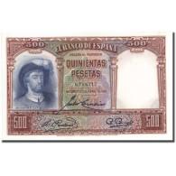 Billet, Espagne, 500 Pesetas, 1931, 1931-04-25, KM:84, SPL - [ 2] 1931-1936 : Repubblica