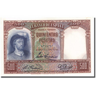 Billet, Espagne, 500 Pesetas, 1931, 1931-04-25, KM:84, SPL - [ 2] 1931-1936 : Republic