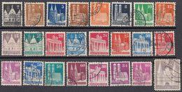 GERMANIA, OCCUPAZIONE, BIZONA - 1948 - Lotto 24 Valori Obliterati, Come Da Immagine. - Zona Anglo-Americana