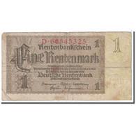 Billet, Allemagne, 1 Rentenmark, 1937, 1937-01-30, KM:173b, B - [13] Bundeskassenschein