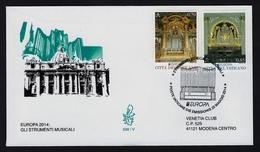 """2014 VATICANO """"EUROPA 2014 STRUMENTI MUSICALI"""" FDC VENETIA - FDC"""