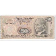 Billet, Turquie, 50 Lira, 1976, KM:188, TB - Turkey