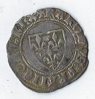 Monnaie France Charles VI Blanc Guénar - 1380-1422 Charles VI Le Fol