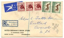 South Africa 1960 Registered Airmail Cover Johannesburg - Butch Burman's Book Store To U.S. - South Africa (...-1961)