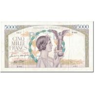 France, 5000 Francs, 1942, 1942-03-05, TTB+, Fayette:46.34, KM:103a - 1871-1952 Anciens Francs Circulés Au XXème