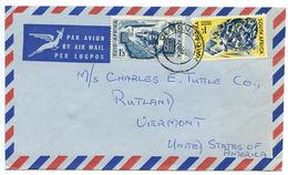 South Africa 1960 Airmail Cover Queenstown To U.S. W/ Scott 238, 240 - South Africa (...-1961)